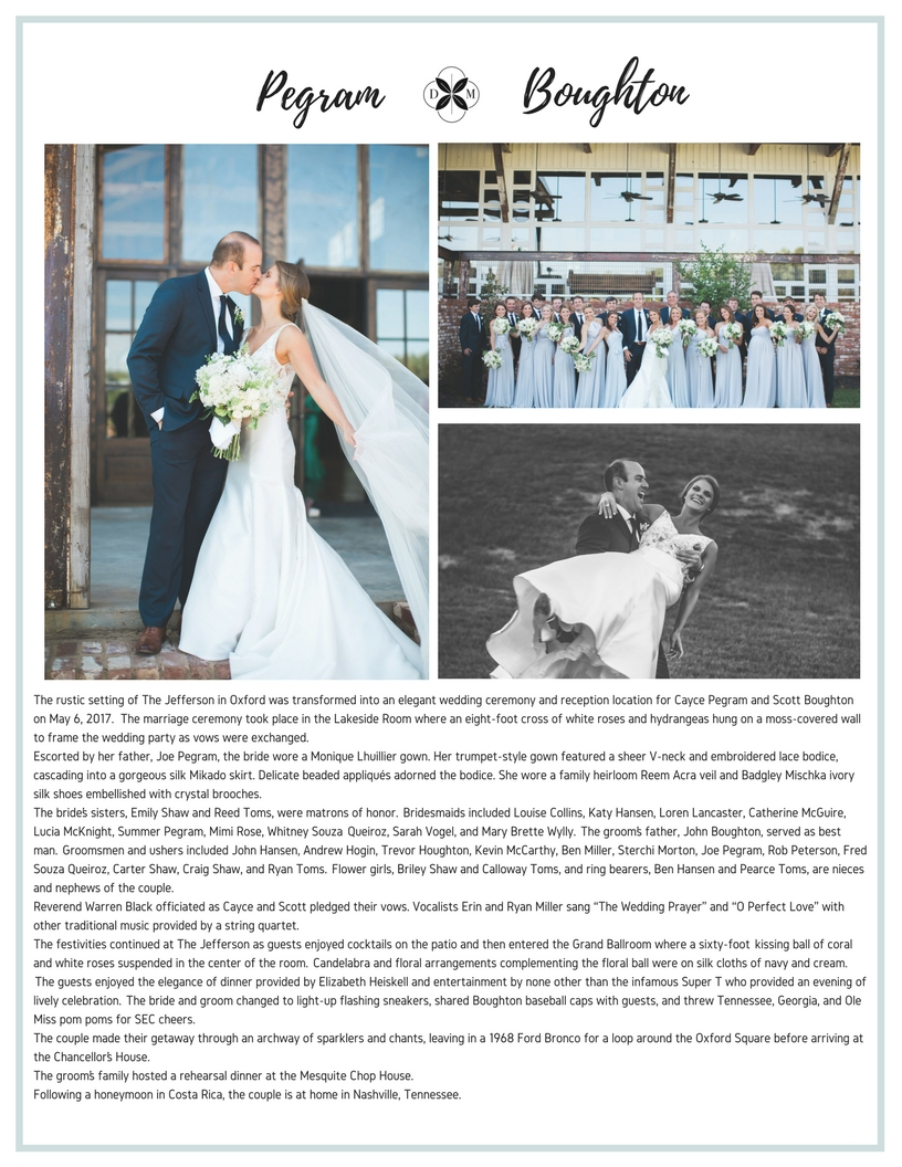 one-page 2019 wedding ad