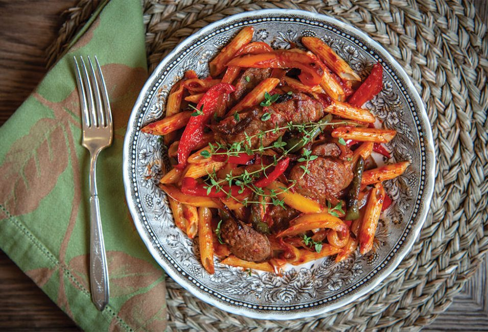 Sausage and Peppers with Penne